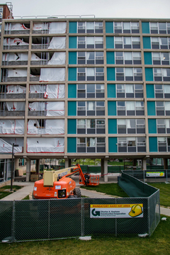 Renovations to residence halls, including DellPlain Hall, are a big part of the construction happening on the Syracuse University campus this summer. Photo taken June 15, 2017